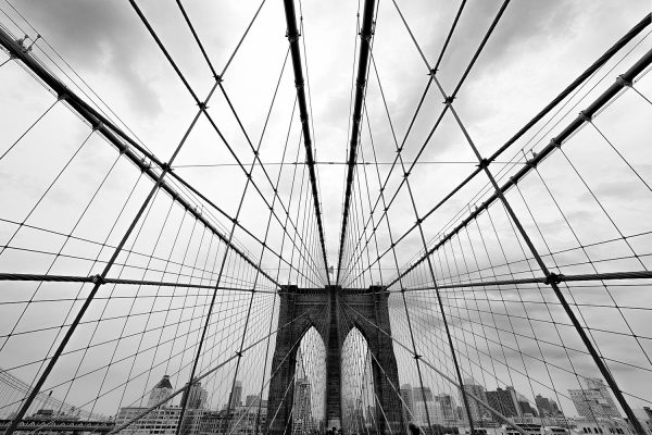 Brooklyn Bridge NY Black and White Photography